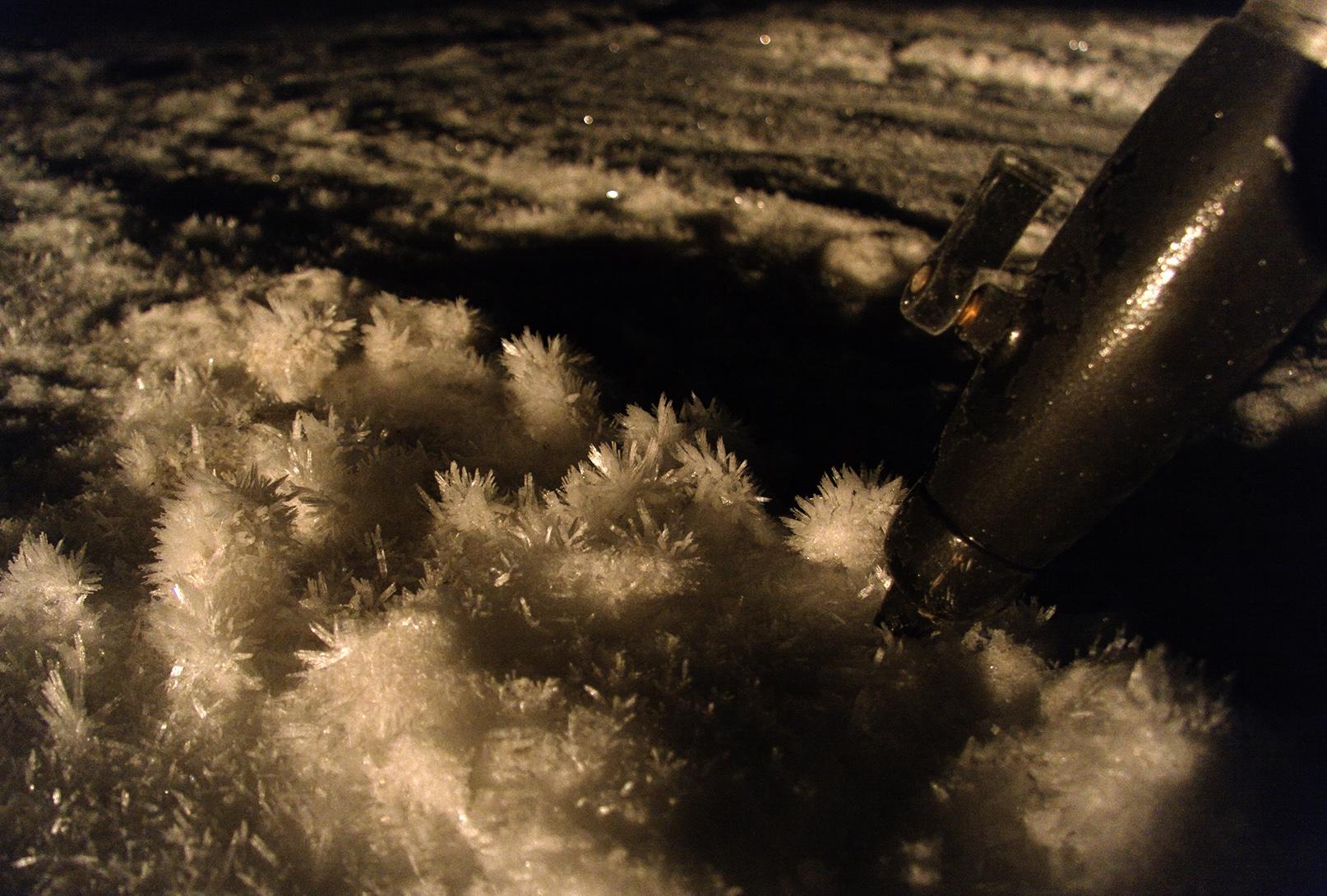 ledová krása na parkovišti
