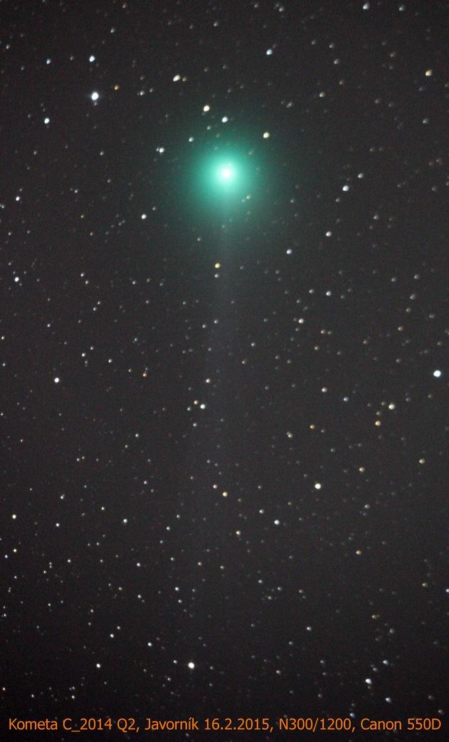 Kometa Q2 Lovejoy z pozorovatelny Javorník na jaře 2015