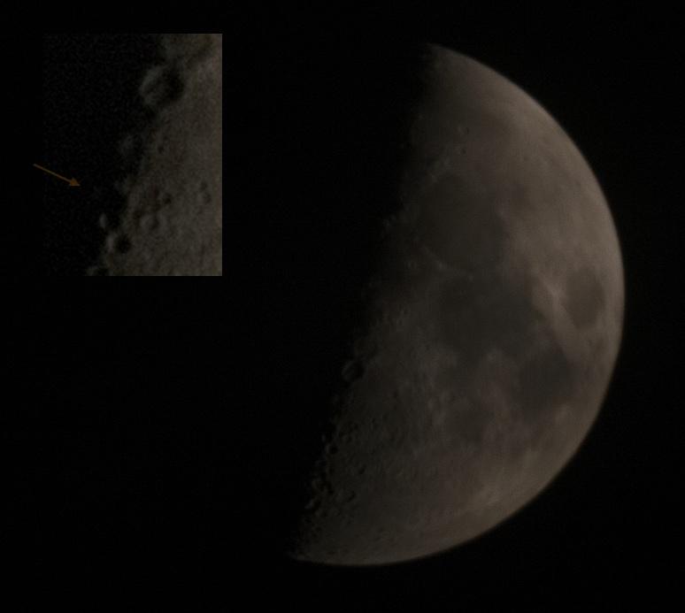 Lunar X 17. ledna 2016, foto přes ED18 v ohnisku 400 mm.