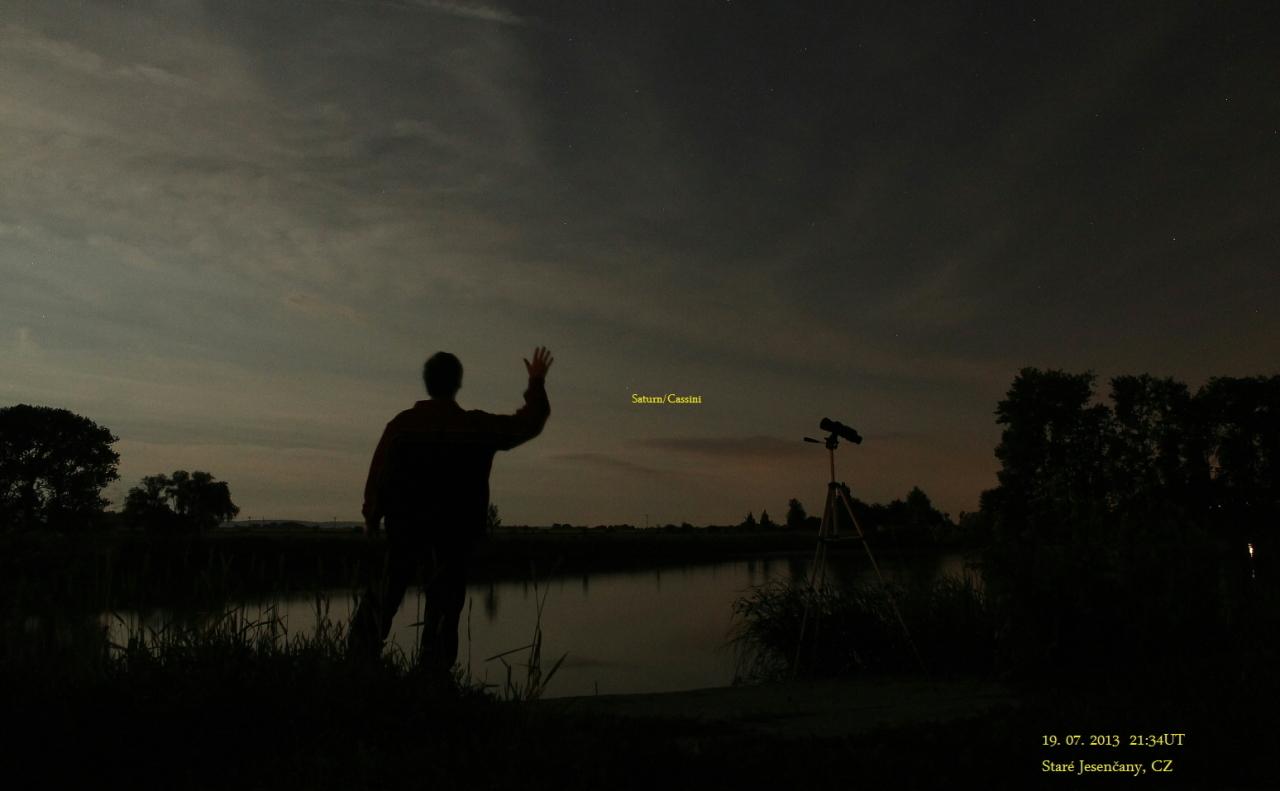 Mávání Saturnu, foto Vilém Heblík, Pardubicko