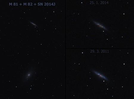Porovnání M82 2011-2014