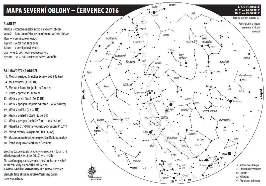 mapka na červenec 2016