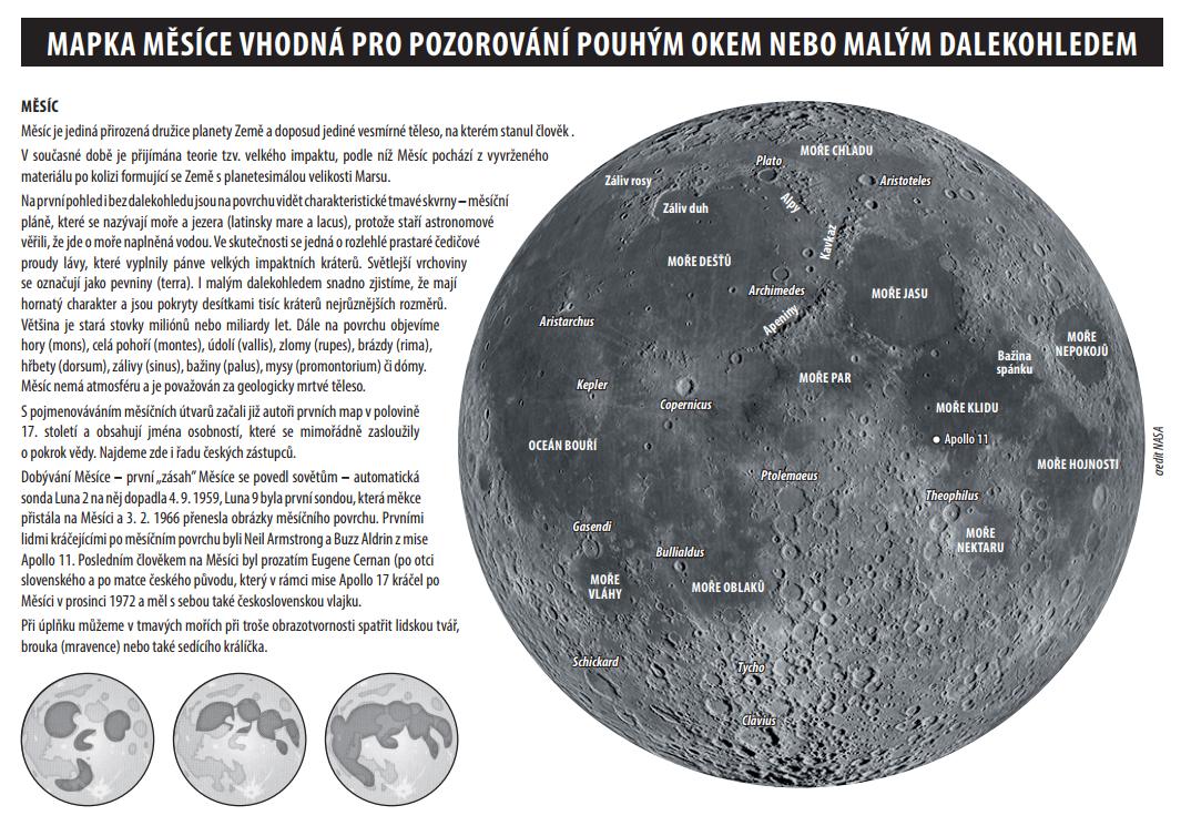 mapka Měsíce