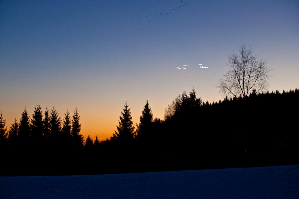 Merkur Venuše a kachny