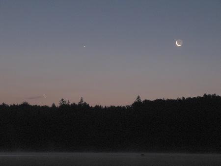 Měsíc, Jupiter a Venuše 23. 8. 2014