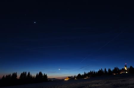 Měsíc, Venuše a Mars 29.1.2017