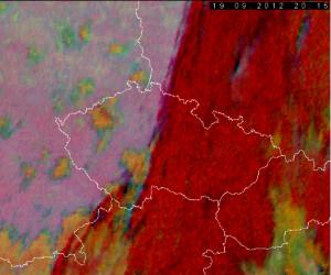 Pohled na družici 19. 9. 2012 22.15 SELČ