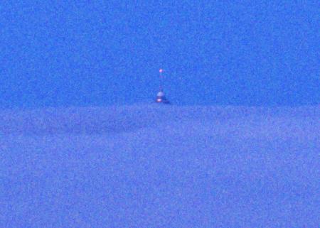 Osamělý mohykán na Ještědu - výřez z předchozí fotky
