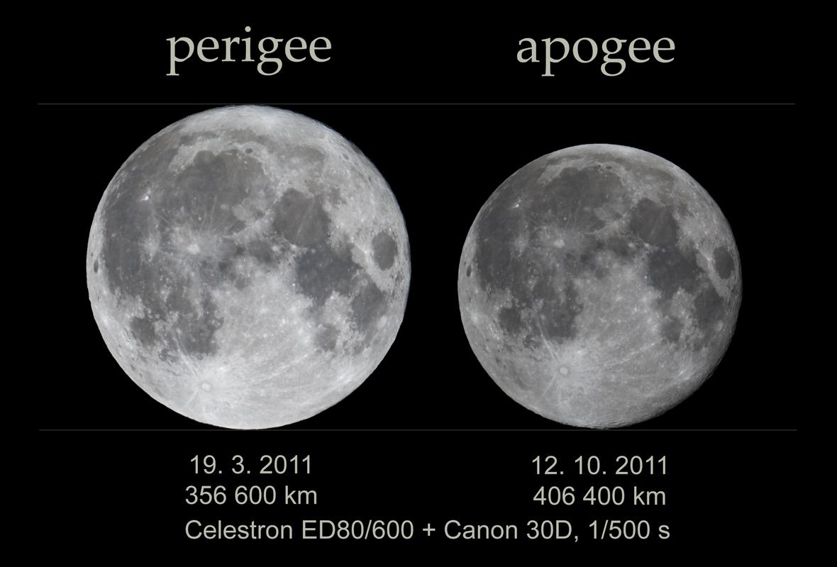 Měsíc v přízemí a odzemí - upraveno na stejný jas