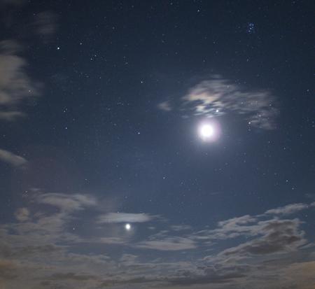Perseida a seskupení planet s Měsícem.