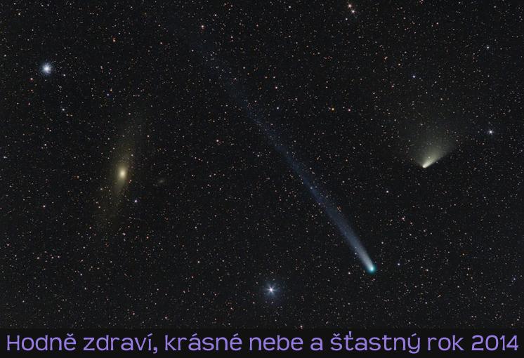 Vysněné souhvězdí roku 2013 by nejspíš tvořily komety PanSTARRS u M 31 a Lovejoy u M 13.