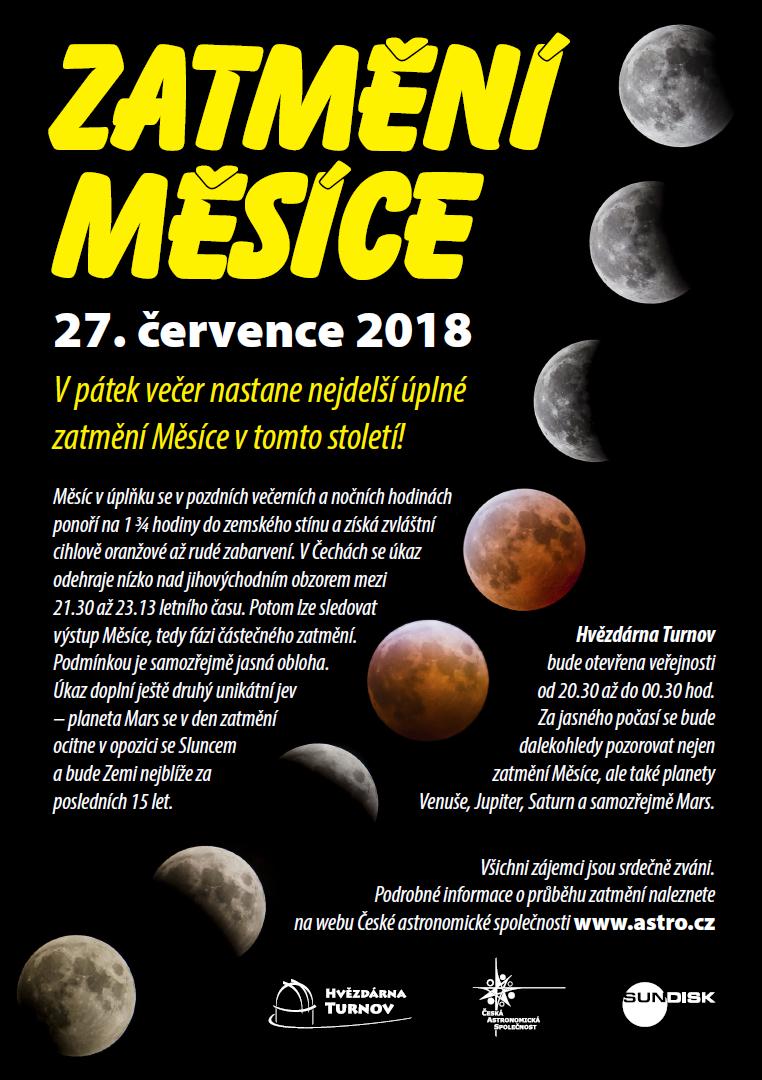 zatmění Měsíce 2018 pozvánka