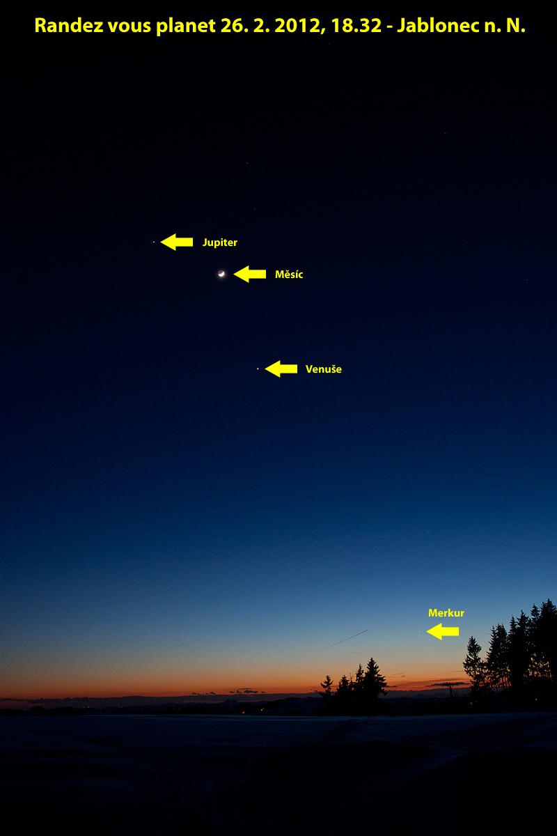 planety a Měsíc 26.2., foto: Aleš Majer