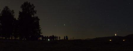 Pozorování planet Jupiter a Saturn v Liberci, Ostašově, 21. 7. 2020
