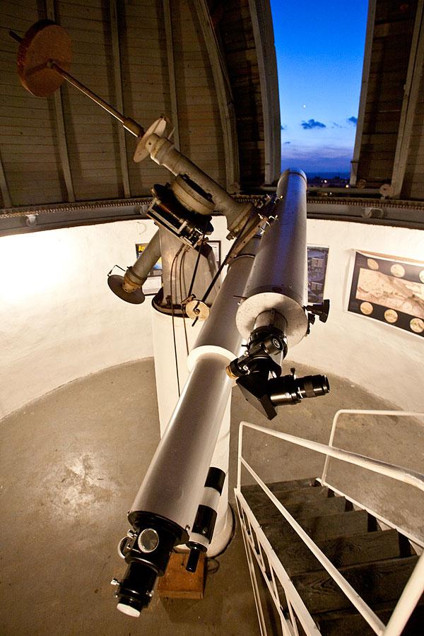 Pozorování Venuše na hvězdárně v Turnově