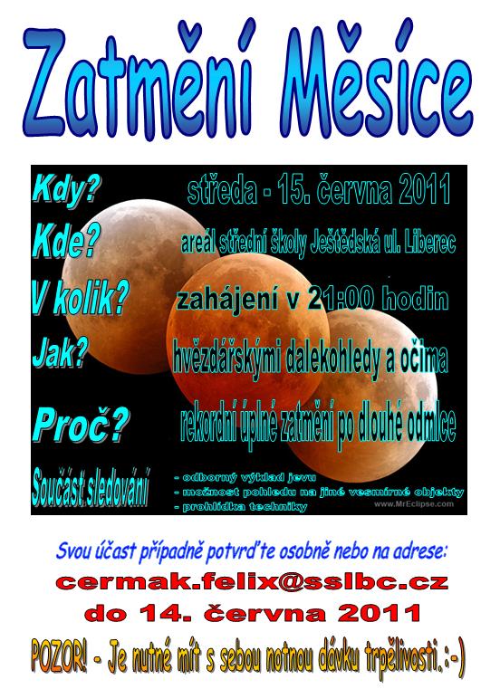 pozvánka zatmění 15.6.2011 Liberec