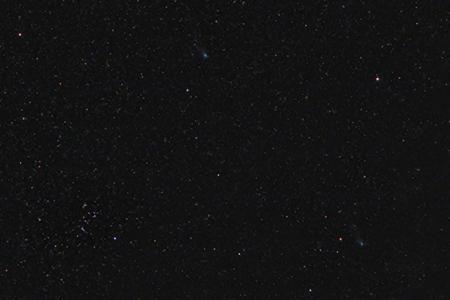 Komety 2012 X1 a 2013 R1 10. 2. 2014, foto: Martin Gembec