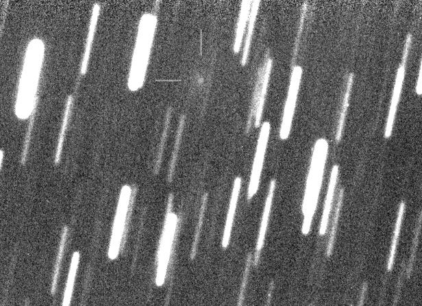 znovuobjevový snímek komety P/2005 JQ5 (Catalina), foto: FRAM/Martin Mašek