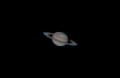 Saturn s bouří na severní polokouli 17.1.2011