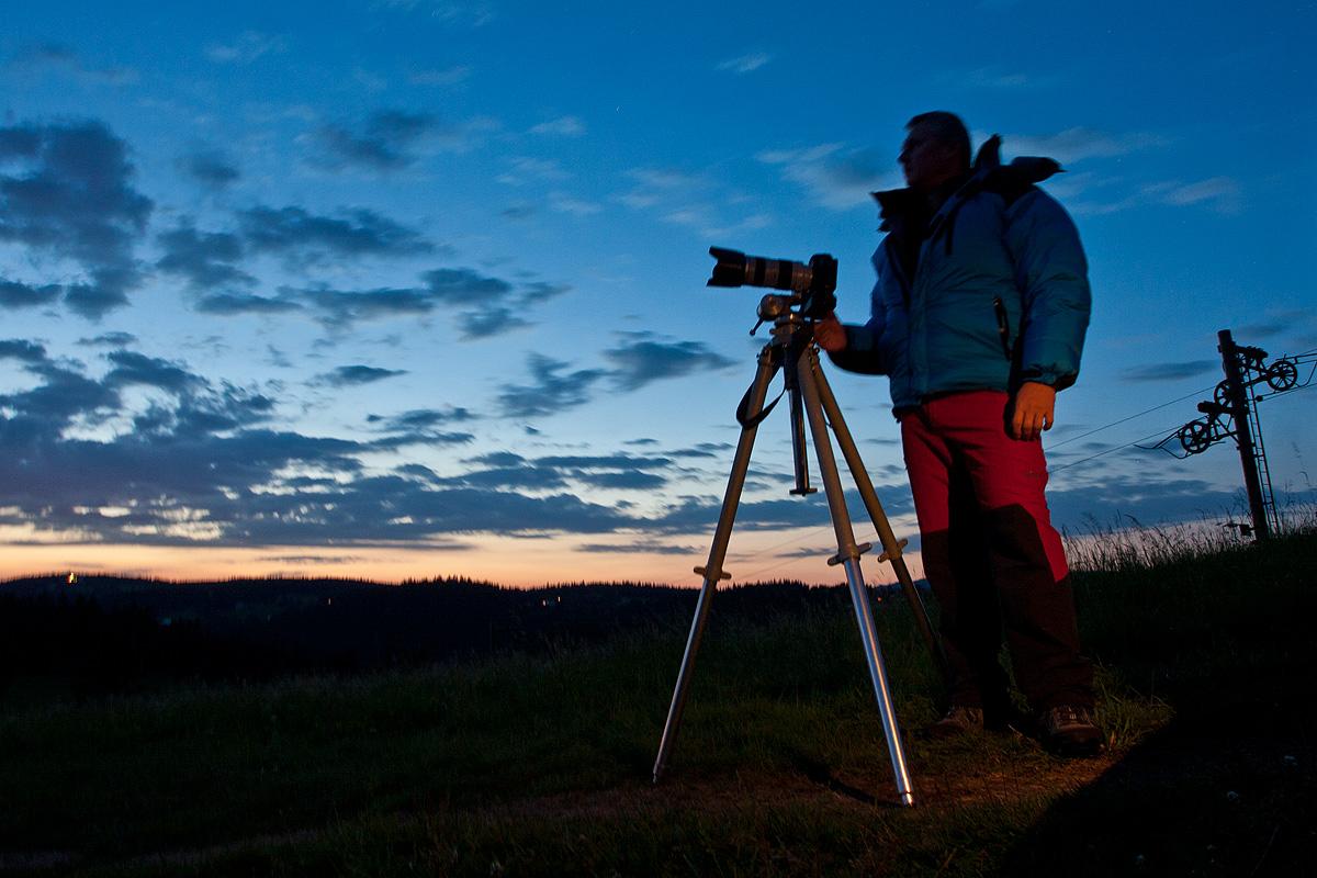 Aleš pozoruje večerní planety a Spicu.