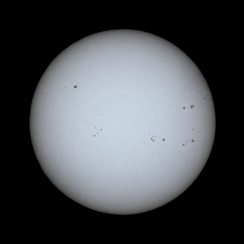 Slunce 19.4.2014 přes SCT 150/1500 Canonem 30D