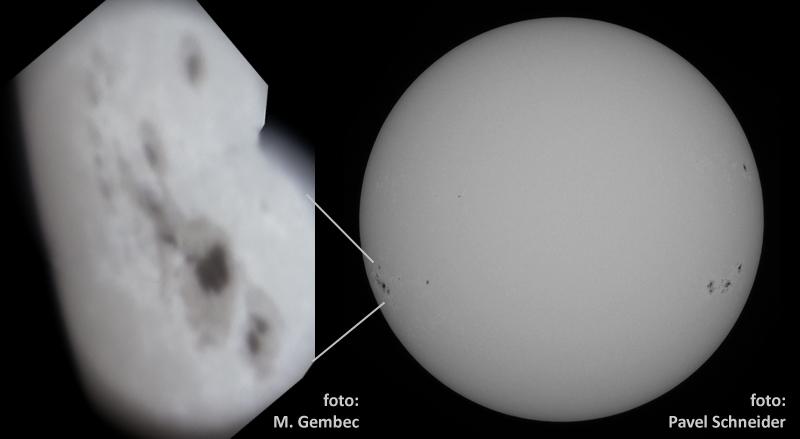 Slunce 7.7.2012, foto Pavel Schneider, detail Martin Gembec