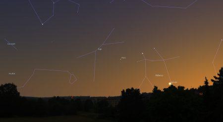 Pohled na obzor z hvězdárny v Turnově ve Stellariu