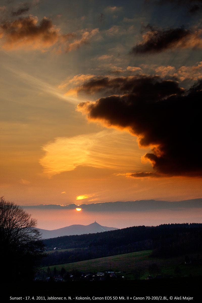 západ Slunce 17. 4. 2011, Aleš Majer