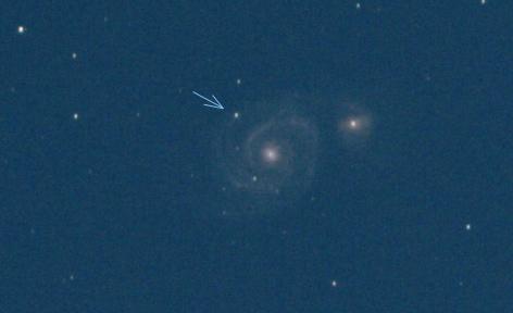 supernova 2011dh v galaxii M51
