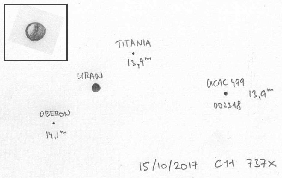 Uran 15. 10. 2017 z Turnova, kresba: Aleš Majer