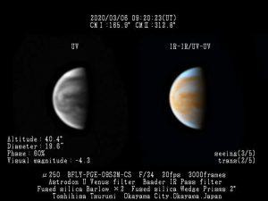 Venuše 5. 3. 2020, foto: Toshihisa Tsurumi, ALPO Japan