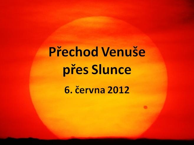 prezentace k přechodu Venuše