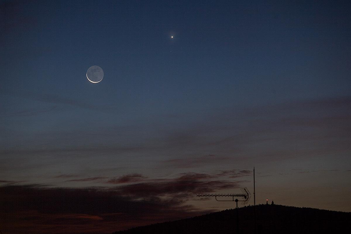 Měsíc a Venuše 18. 10. 2017, Aleš Majer