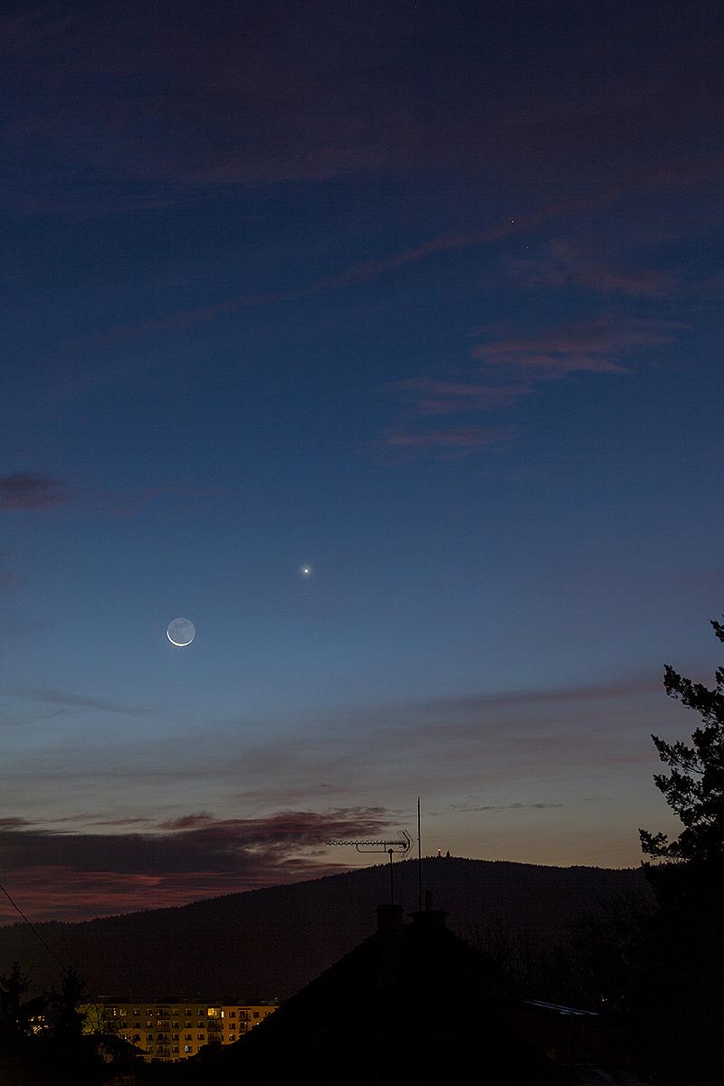 Měsíc, Venuše a Mars 18. 10. 2017, Aleš Majer