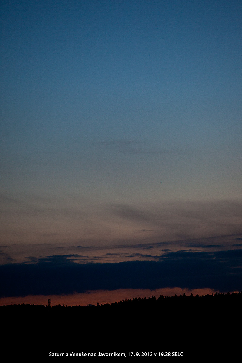 Venuše se Saturnem 17.9.2013