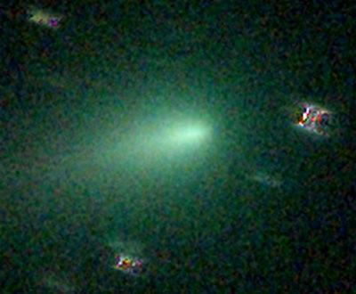 Kometa Y4 ATLAS, centrální koma po seskládání na kometu.