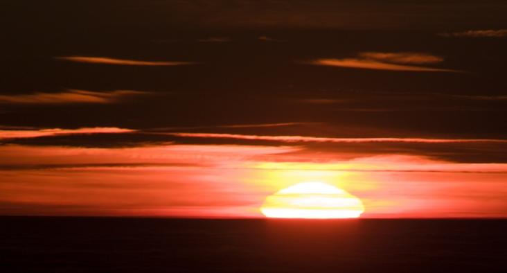 Západ Slunce 28.1.2017 z Vrbatky
