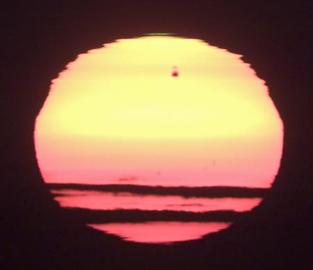 Zelenomodrý záblesk a zrcadlení Venuše